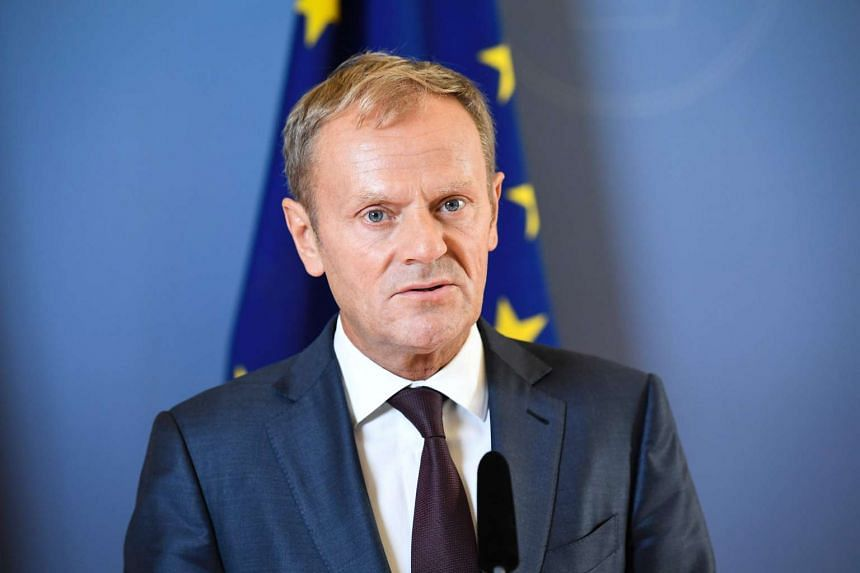 """Tusk (above) said the EU must be less """"politically correct"""" and protect Europeans worried about terrorism, security and globalisation."""