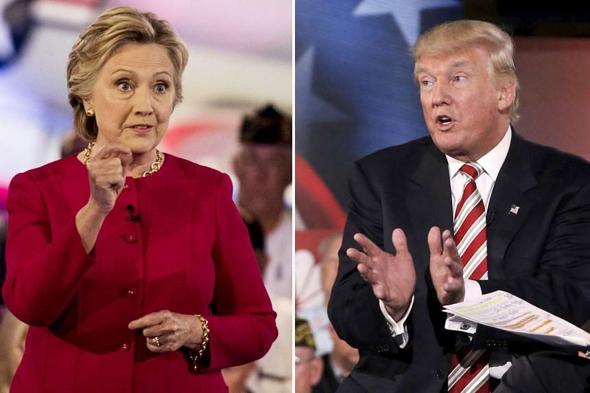 Hillary Clinton and Donald Trump at the NBC's Commander in Chief Forum in New York on Sept 7.