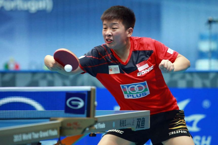 Zeng Jian in action at the Qatar Open in March this year.