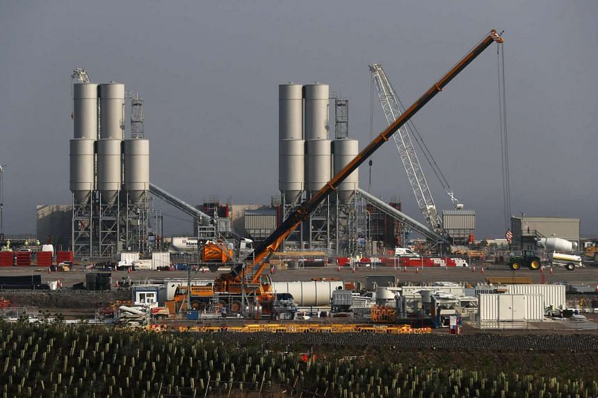 Hinkley Point C nuclear power station site is seen near Bridgwater in Britain on Sept 14, 2016.