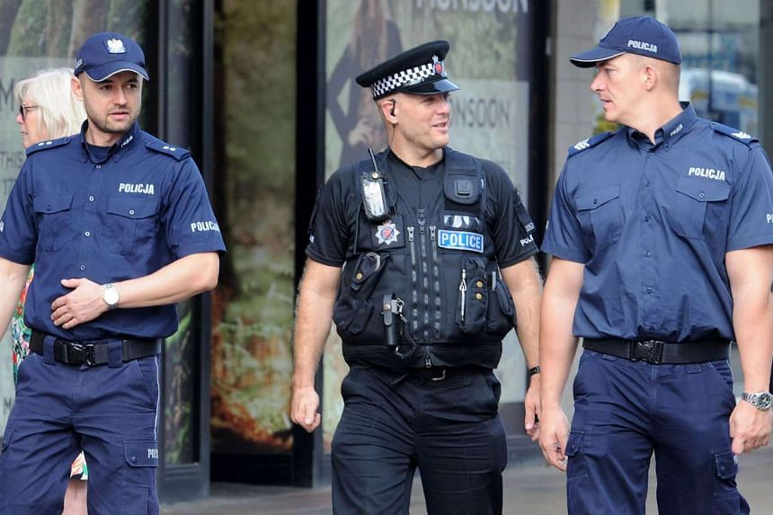 The two Polish officers are being deployed in Harlow for a week to reassure the local people.