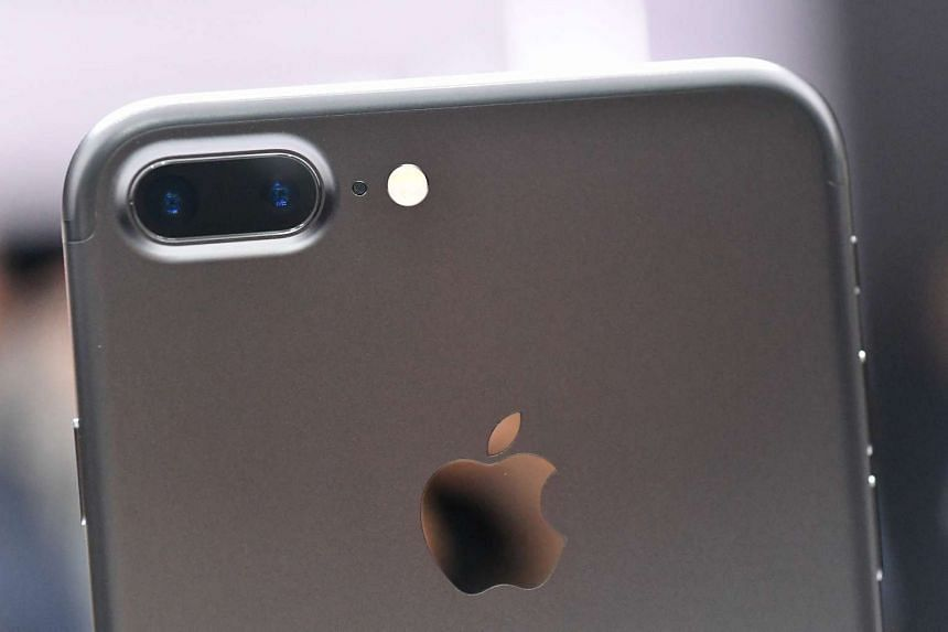 A closeup view of the iPhone 7 Plus.