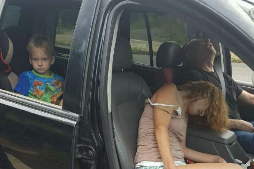 The 4-year-old boy who was seen in a shocking photograph in the back seat of a car while a couple were slumped over in front from a drug overdose has found a new home.
