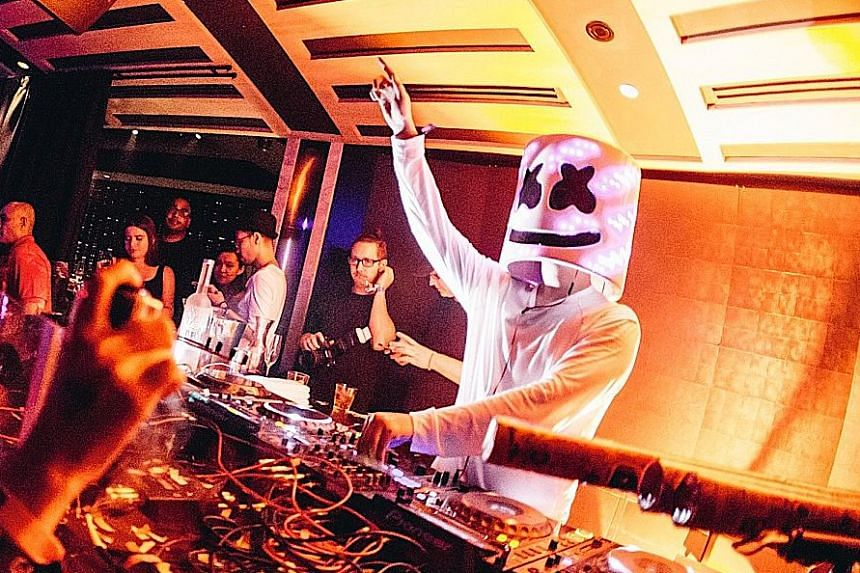 The real DJ Marshmello (above) expressed his disappointment in Zouk for confusing guests.