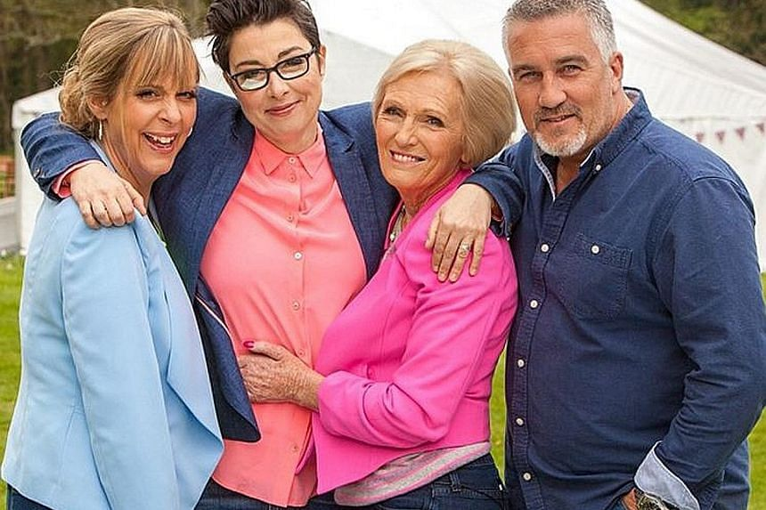 Mel Giedroyc and Sue Perkins (from above left, with Mary Berry and Paul Hollywood) are quitting The Great British Bake Off.
