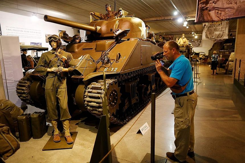 A WWII 1944 Chrysler M4A4 Sherman tank on display at the Normandy Tank Museum in Catz, north-western France. The museum is shutting because of a 30 per cent drop in visitors this year, which it blames on terror attacks in France in the past two years