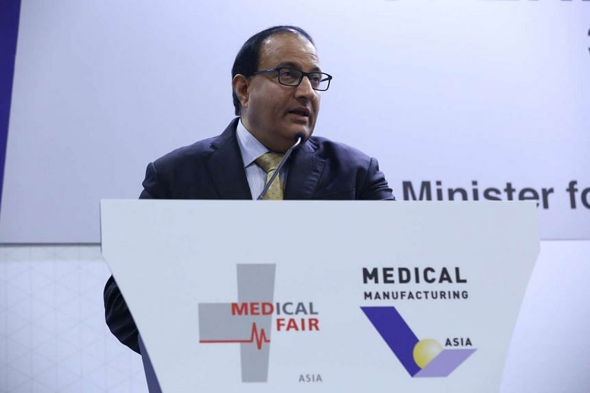 Mr S Iswaran, Minister for Trade and Industry (Industry), speaking at the opening ceremony of two trade exhibitions, Medical Fair Asia and Medical Manufacturing Asia on August  31, 2016.