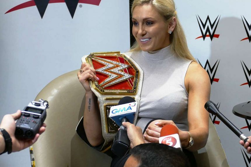 WWE superstar Charlotte, who's the daughter of legendary wrestler Ric Flair, fielding questions from reporters in Manila, Philippines on Sept 9, 2016.