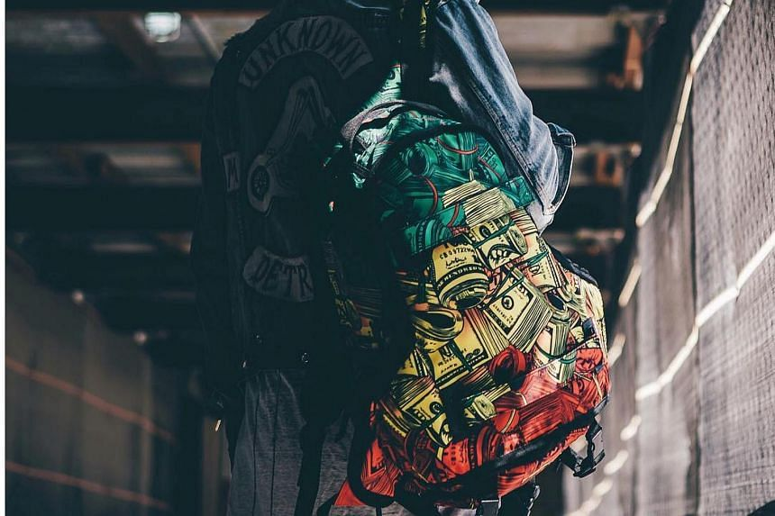 The Rasta $$$ Skate Backpack.