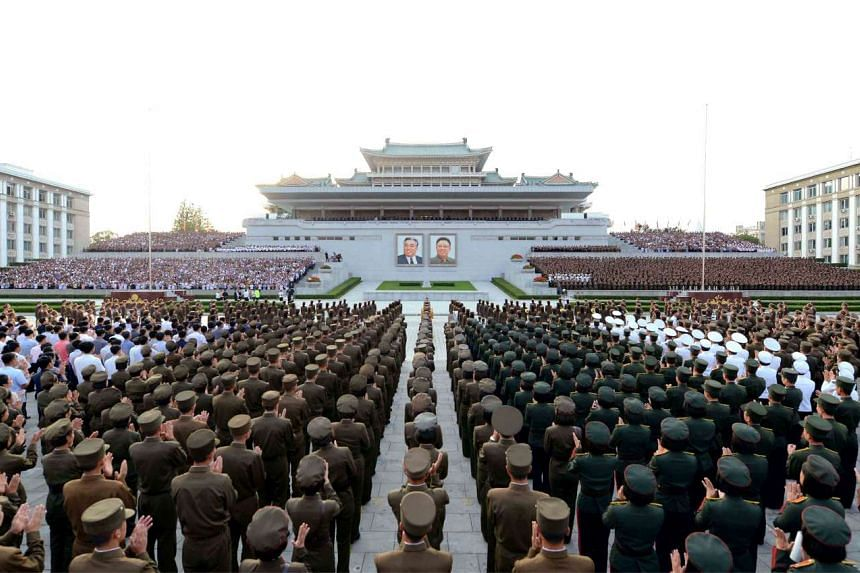 A rally at the Kim Il Sung square in Pyongyang celebrating the success of a recent nuclear test. North Korea conducted its fifth and largest-ever nuclear test last Friday.