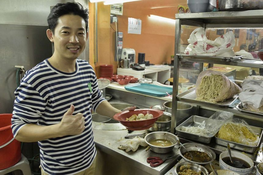 Mr Chua Cheng Heng, co-owner of Finest SongKee's Fishball Noodle, is the cousin of the former Song Kee owners.