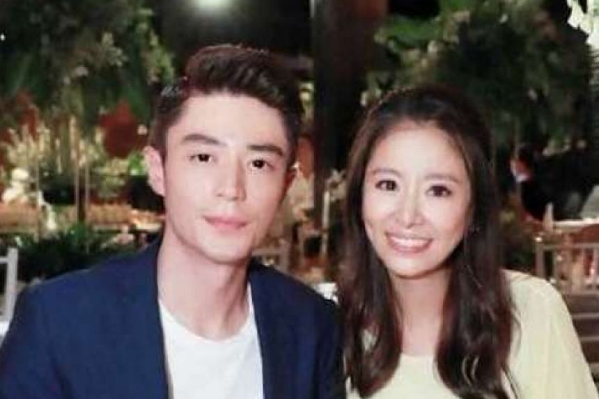 Actress Ruby Lin with actor Wallace Huo