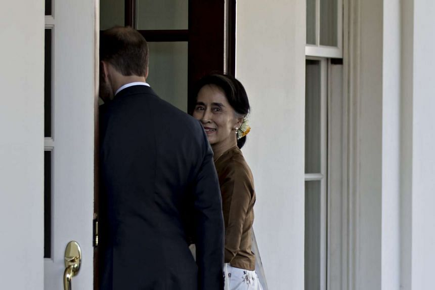 Suu Kyi arrives at the West Wing of the White House on Sept. 14, 2016.