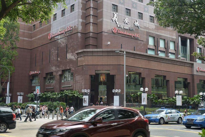 Exterior facade of Ngee Ann City, Takashimaya Shopping Centre.