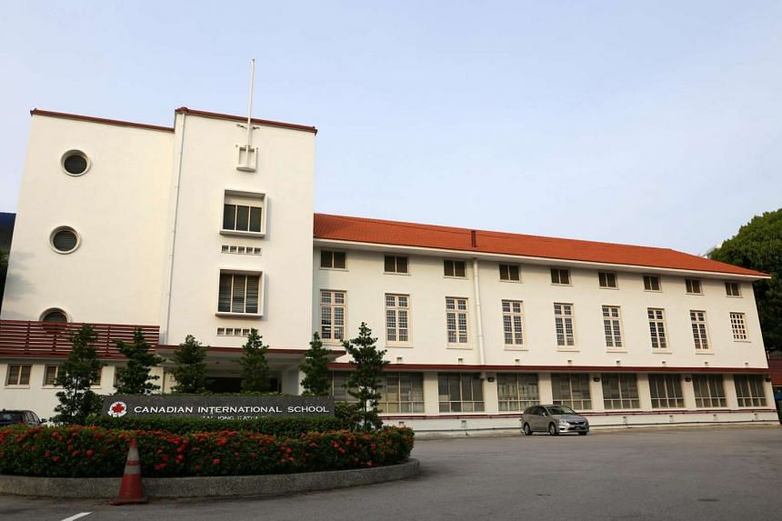 Facade of the Canadian International School in Tanjong Katong Road. The four-storey building, which was the former premises of the Tanjong Katong Girls' School, was gazetted for conservation by the Urban Redevelopment Authority (URA) in 2003.