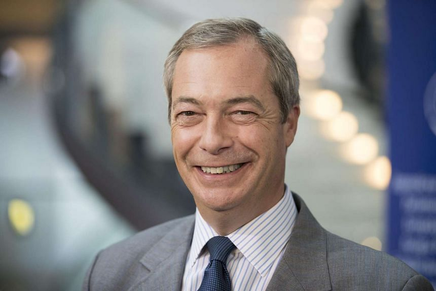 Nigel Farage, former leader of the U.K. Independence Party (UKIP), poses for a photograph ahead of a Bloomberg Television interview at the European Parliament in Strasbourg, France on Sept 14, 2016.