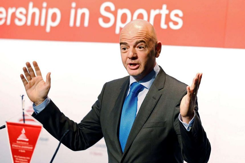 Fifa president Gianni Infantino attends the World Summit on Ethics and Leadership in Sports on Sept 16, 2016.