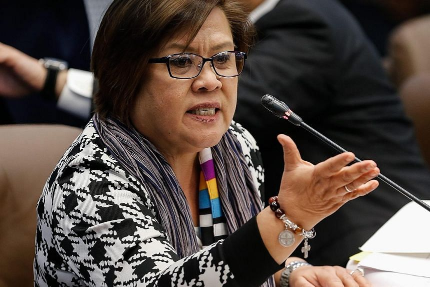 "Back in 2009, as human rights commission chief, Ms de Lima opened investigations into Davao's ""death squads""."