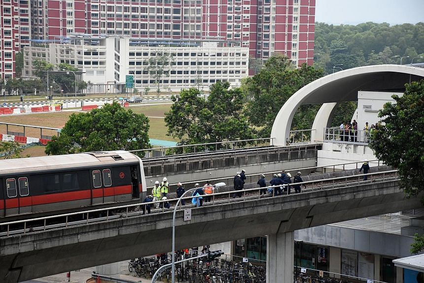 Two trainees were killed when they were hit by a train on the track near Pasir Ris station on March 22. SMRT said in April that failure to follow safety measures - including allowing a train to ply in automatic mode while workers were on site, and no