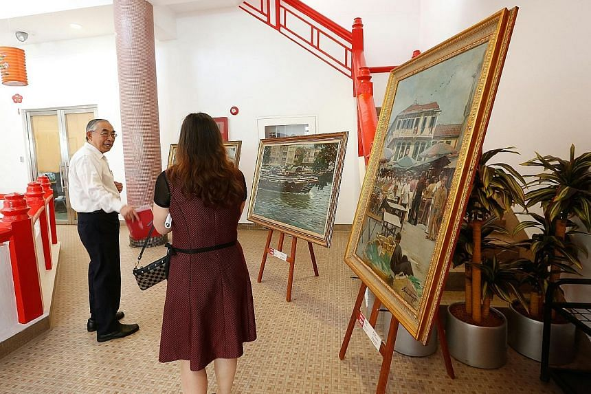 A group of oil paintings was sold yesterday to help raise funds for the Chinese Heritage Centre, once the administration building of Nantah. Mr Ong said the closure of the former Nanyang University is one example of compromises made by the different