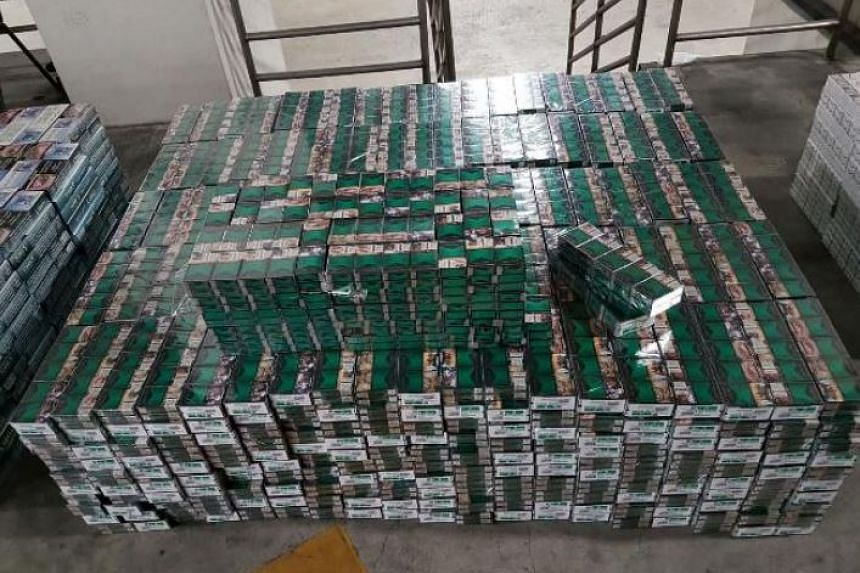 More than 7,000 cartons of duty-unpaid cigarettes were seized at the Woodlands Checkpoint on Sept 15, 2016.