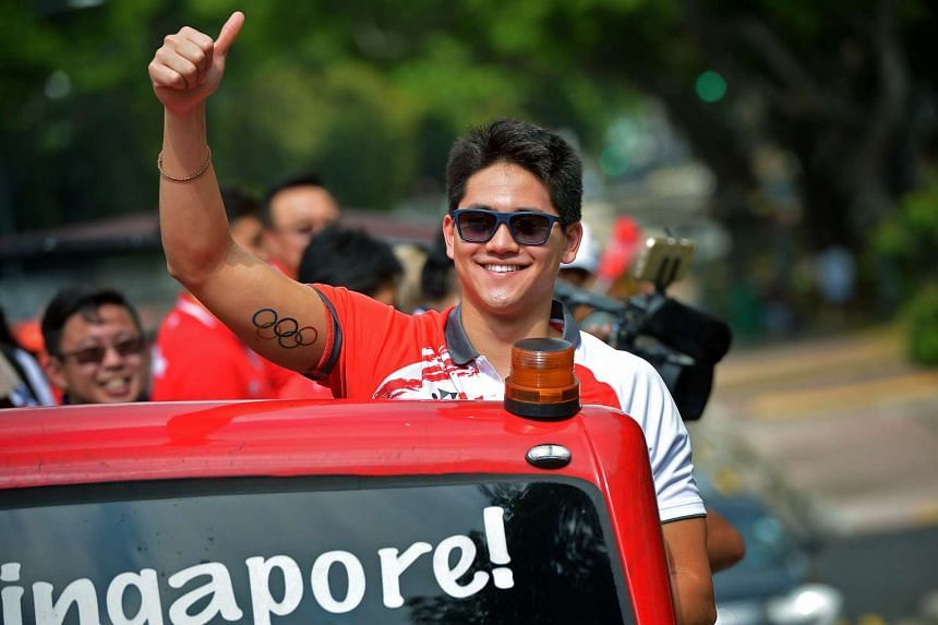 """Olympic gold medalist Joseph Schooling (above) told Paralympics medalists Yip Pin Xiu and Theresa Goh to """"soak in the celebrations"""" when they return to Singapore."""