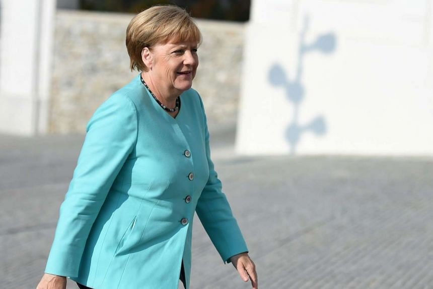 Germany's Chancellor Angela Merkel arrives the informal EU summit at the Bratislava Castle in the Slovak capital on Sept 16, 2016.
