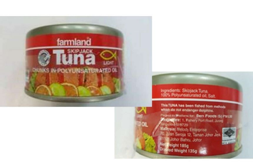 High levels of a chemical that can cause vomiting, rashes and heart palpitations have been detected in canned Tuna chunks in Polyunsaturated Oil from Farmland.