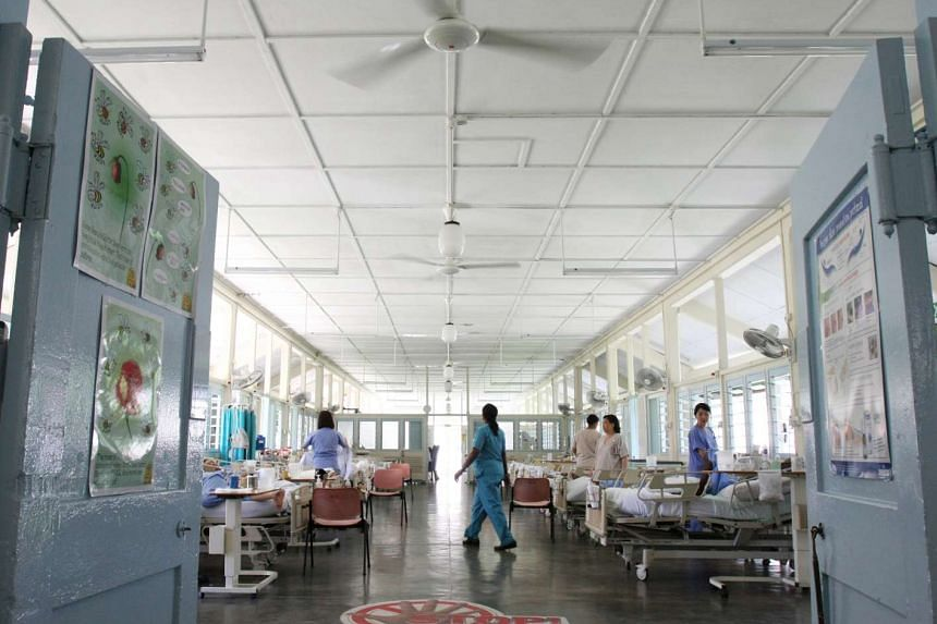 Patients at the Communicable Disease Centre's (CDC) tuberculosis (TB) ward.