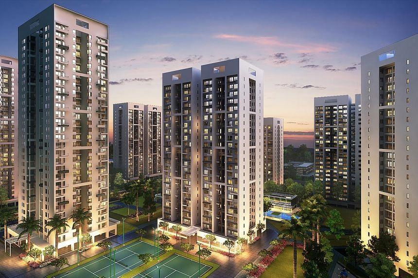 (Above left) Godrej Infinity, a project in Pune in India. Godrej Properties (GPL) established an international representative office in Singapore on Wednesday. Mr Malhotra (above right), GPL's executive director, says the physical presence will enabl
