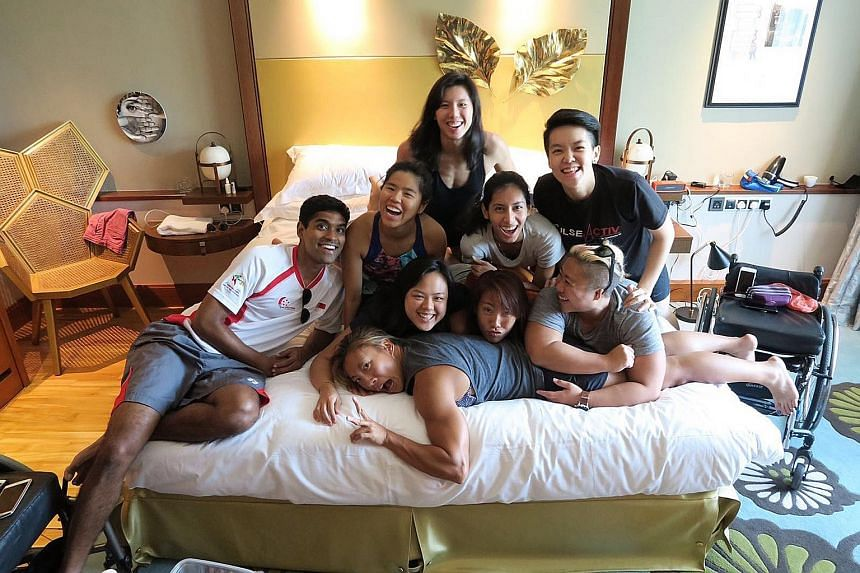 Some of the group members include (back, from left) Seishen Gerard (Yip Pin Xiu's boyfriend), Yip, Amanda Lim, Dipna Lim-Prasad, Shayna Ng and (front, from left) Stephenie Chen, Samantha Leong, Sarah Chen and Theresa Goh. They try to hang out as much
