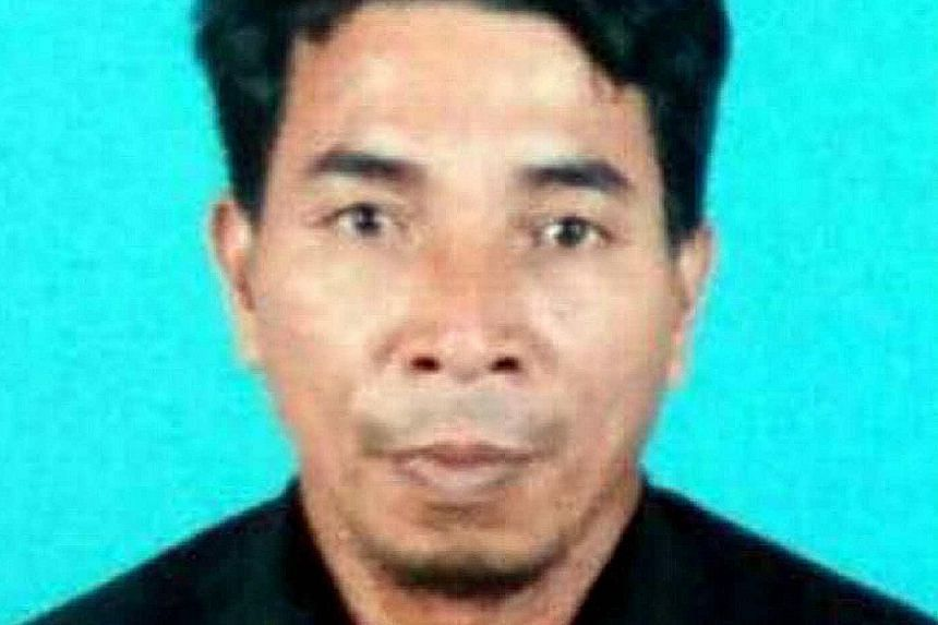 (From top) Mr Jamalan, Mr Ghani and Mr Alpin were taken by seven masked gunmen who raided their Malaysia- registered trawler while it was anchored off Sabah's east coast last Saturday.
