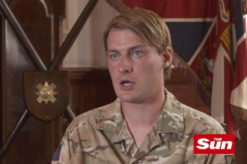 Soldier Chloe Allen in a screenshot from an interview given to Britain's The Sun tabloid.