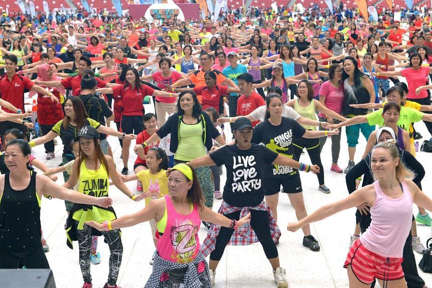 The main attraction at the National Stadium which attracted 3,248 Zumba fanatics during the Sports Hub Community Play Day on Sept 17, 2016.