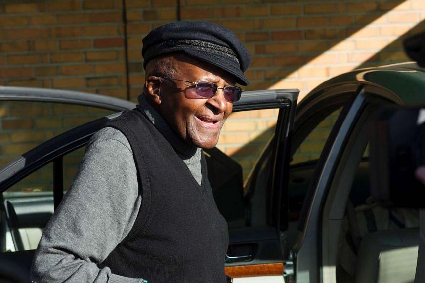 South African anti-apartheid activist and Nobel Peace Laureate Archbishop Desmond Tutu on September 17, 2016.