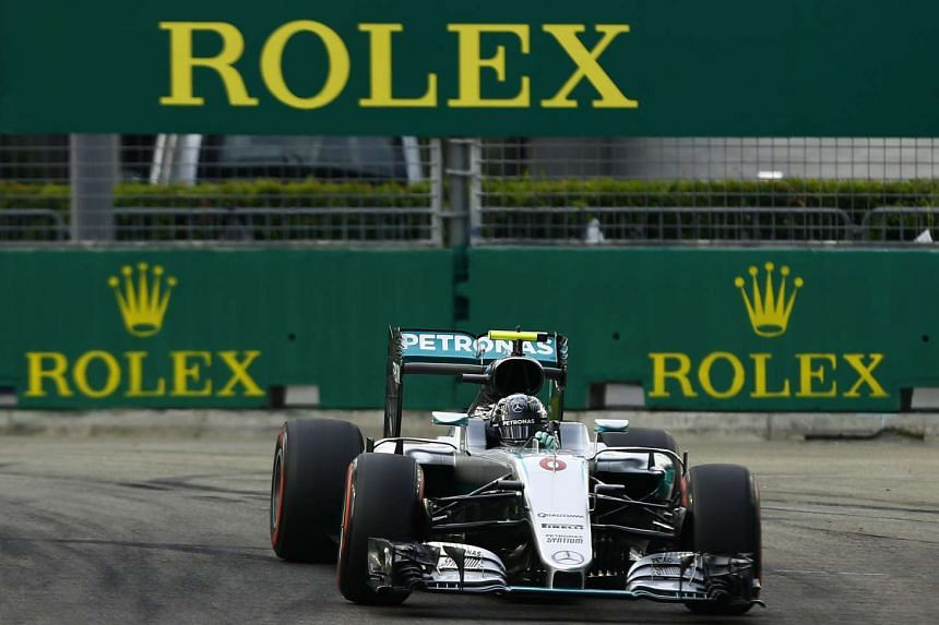 Mercedes driver Nico Rosberg took pole position for his 200th Formula One race on Sept 17, 2016.