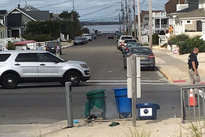 A photo of the scene uploaded to social media by the Ocean County prosecutor's office.