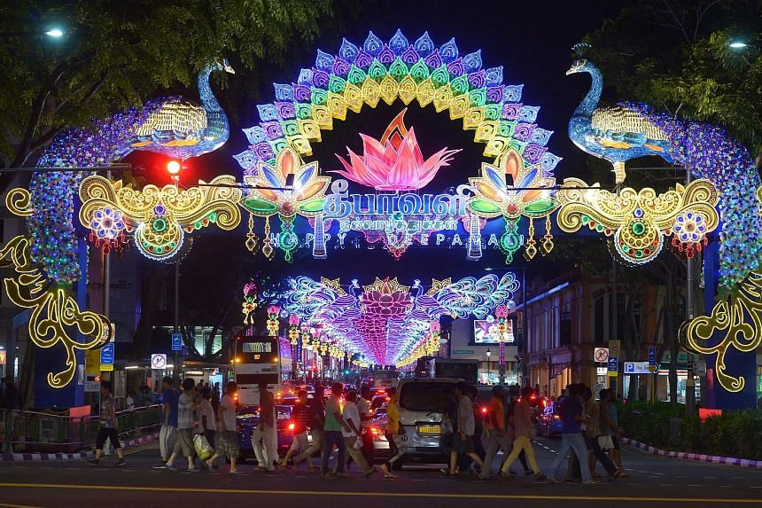 Lights, camera... time to snap away. Deepavali celebrations got off to a sparkling start in Little India last night with a light-up ceremony featuring a dazzling display of 1.5 million LED lights lining the streets. The event graced by President Tony