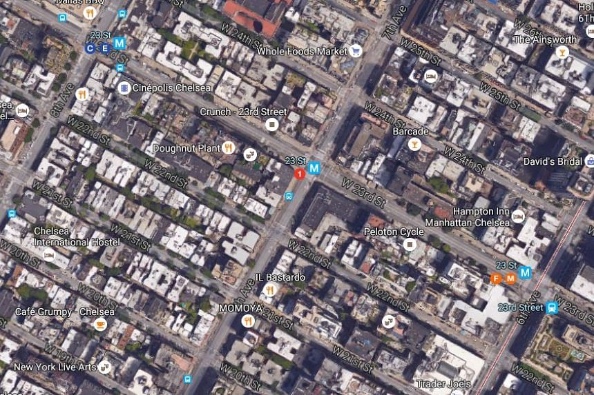 A loud explosion shook the Chelsea neighborhood of Manhattan on Saturday night in the area of 23rd Street and 7th Avenue.