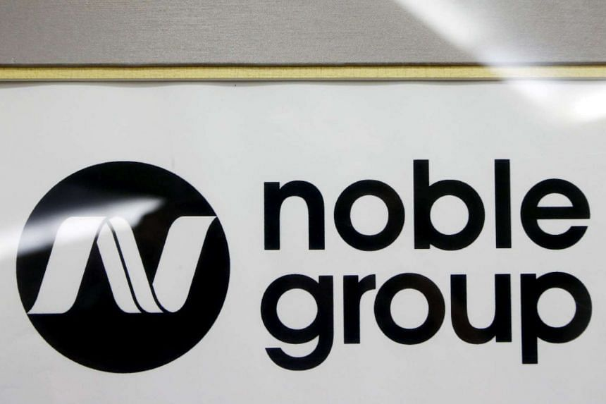 A Noble Group sign is pictured at a meet-the-investors event in Singapore on Aug 17, 2015.