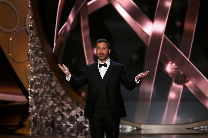 Host Jimmy Kimmel opens the show during the 68th Primetime Emmy Awards in Los Angeles, California, US, on Sept 18, 2016.