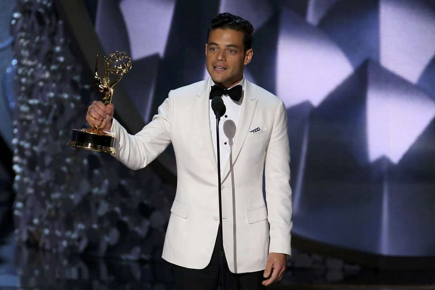 Rami Malek accepts the award for Outstanding Lead Actor In A Drama Series for Mr. Robot at the 68th Primetime Emmy Awards in Los Angeles, California, US, Sept 18, 2016.