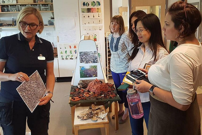 From left: Swedish teacher Gry Jacobsen with Ms Victoria Waring from Britain and Singapore teachers Cherilyn Lee, Lynn Xu and Shahidah Angullia on a study tour at Lange Erik Preschool in Sweden in June.