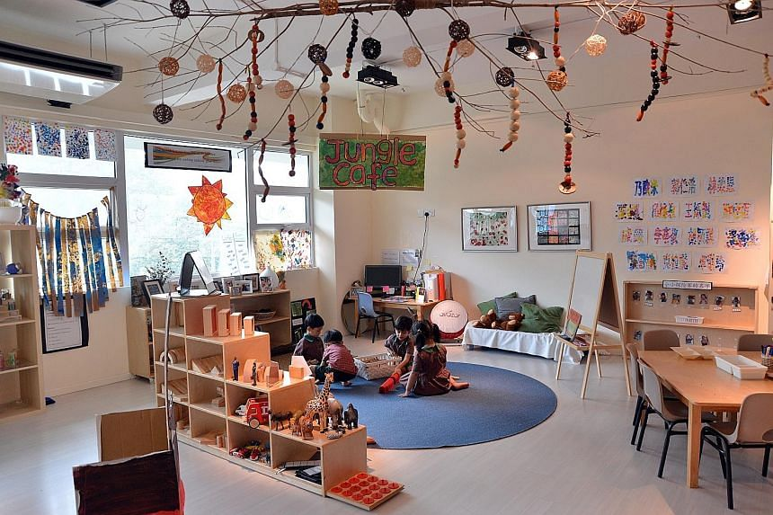Children at the EtonHouse Bilingual Pre-School are encouraged to express themselves through a variety of ways, including language, art and play. They also have a chance to be inspired by nature, thanks to the centre incorporating touches of the outdoors i