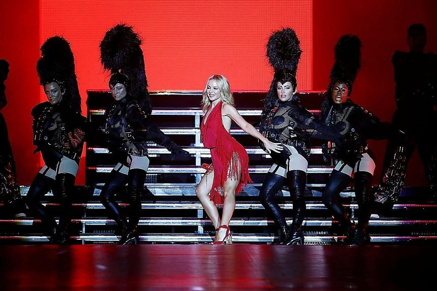 Belting out hit after hit, singer Kylie Minogue (above) was a dazzling sight as she showcased her chops as a vocalist.