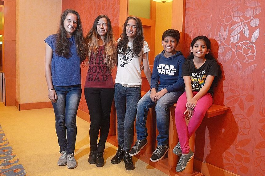 Performing at this year's ChildAid concert are the Braam sisters - (from far left) Dominique, Nicola and Danielle - as well as Aadeetiya Jayashanker and his sister, Jyotsnaa.