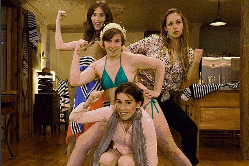 The cast of HBO's Girls include (clockwise from top left) Allison Williams, Jemima Kirke, Lena Dunham and Zosia Mamet.