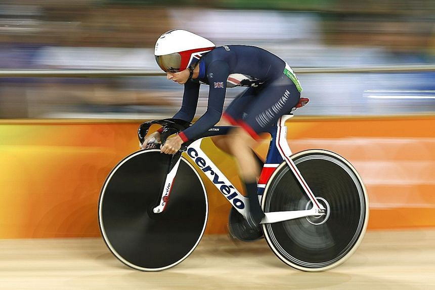 Britain's Laura Trott competing at the Rio 2016 Olympics. The four-time Olympic gold medallist took part in a range of sports, including trampolining and swimming, before specialising in cycling at 14.