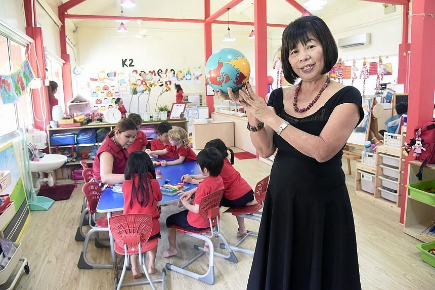 Mrs Koh's three-year-old pre-school chain, MapleBear, is opening a branch in Manila next month.