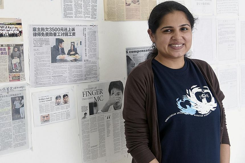 Ms Kanwar, the new executive director of migrant worker advocacy group Home. In her first week on the job, an attempt to arrange a transfer for a troubled maid saw her getting screamed at by the maid's employer instead.